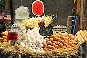La Boqueria Market, Barcelona Egg stall