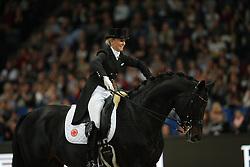 Von Bredow-Werndl Jessica, (GER), Unee BB<br /> Grand Prix Kür<br /> Reem Acra FEI World Cup Dressage<br /> Stuttgart - German Masters 2015<br /> © Hippo Foto - Stefan Lafrentz