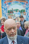 Michael Eavis. Tony Benn's funeral at 11.00am at St Margaret's Church, Westminster. His body was brought in a hearse from the main gates of New Palace Yard at 10.45am, and was followed by members of his family on foot. The rout was lined by admirers. On arrival at the gates it was carried into the church by members of the family. Thursday 27th March 2014, London, UK. Guy Bell, 07771 786236, guy@gbphotos.com