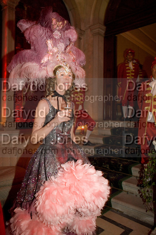 Francesca Bortolotto Possati. Francesca Bortolotto Possati, Alessandro and Olimpia host Carnevale 2009. Venetian Red Passion. Palazzo Mocenigo. Venice. February 14 2009.  *** Local Caption *** -DO NOT ARCHIVE -Copyright Photograph by Dafydd Jones. 248 Clapham Rd. London SW9 0PZ. Tel 0207 820 0771. www.dafjones.com<br /> Francesca Bortolotto Possati. Francesca Bortolotto Possati, Alessandro and Olimpia host Carnevale 2009. Venetian Red Passion. Palazzo Mocenigo. Venice. February 14 2009.