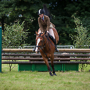 Kate Clark competes on Fergus in the Open Working Hunters class. Kinross Show. Kinross. 12 Aug 2017. Kinross. Credit: Photo by Tina Norris. © Tina Norris No unauthorised use including web use. Print sales via Tina Norris info@tinanorris.co.uk 07775 593 830