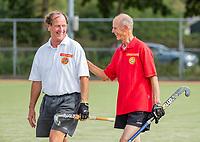WAGENINGEN -  Mario Janssen met Jan van Paassen . lustrum 2019,  60+ hockey, 30jaar.   met wedstrijden en andere festiviteiten.   COPYRIGHT KOEN SUYK