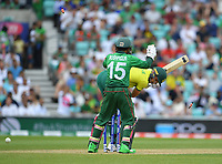 Cricket - 2019 ICC Cricket World Cup - Group Stage: South Africa vs. Bangladesh<br /> <br /> South Africa's Aiden Markram clean bowled by Bangladesh's Shakib Al Hasan for 45, at The Kia Oval.<br /> <br /> COLORSPORT/ASHLEY WESTERN
