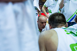 Head coach of Slovenia Jure Zdovc during friendly basketball match between National teams of Slovenia and Italy at day 3 of Adecco Cup 2015, on August 23 in Koper, Slovenia. Photo by Grega Valancic / Sportida