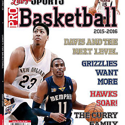 Lindys Sports Pro Basketball (NBA) 2015-2016 Preview Cover - Anthony Davis - Pelicans