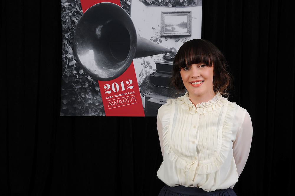 Annah Mac, finalist at the APRA Silver Scrolls Awards 2012. Auckland Town Hall. 13 September 2012.