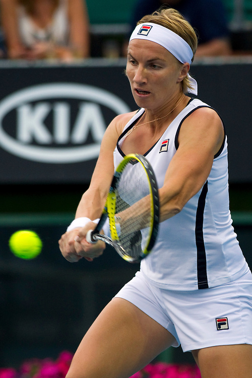 Svetlana Kuznetsova, Russia in her second round match against Christina McHale, United States at the ASB Classic Women's Tennis Tournament, Auckland, New Zealand, Wednesday, January 04, 2012.  Credit:SNPA / David Rowland