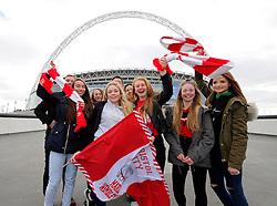 Bristol City fans out side Wembley Stadium  - Photo mandatory by-line: Joe Meredith/JMP - Mobile: 07966 386802 - 22/03/2015 - SPORT - Football - London - Wembley Stadium - Bristol City v Walsall - Johnstone Paint Trophy Final