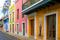 Colorful buildings of Calle San Sebastián