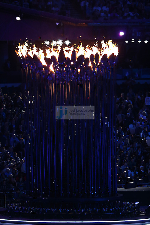 The Closing Ceremonies begin during day 16 of the London Olympic Games in London, England, United Kingdom on August 12, 2012..(Jed Jacobsohn/for The New York Times)..