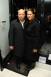 PAUL KARSLAKE and TRACEY EMIN at an exhibition of artist Paul Karslake's work entitled Ideas & Idols, held at Scream, 34 Bruton Street, London W1 on 21st February 2008.<br /><br />NON EXCLUSIVE - WORLD RIGHTS