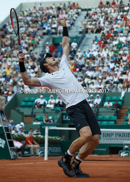 ANDY MURRAY (GBR)<br /> <br /> Tennis - French Open 2017 - Grand Slam / ATP / WTA / ITF -  Roland Garros - Paris -  - France  - 1 June 2017.