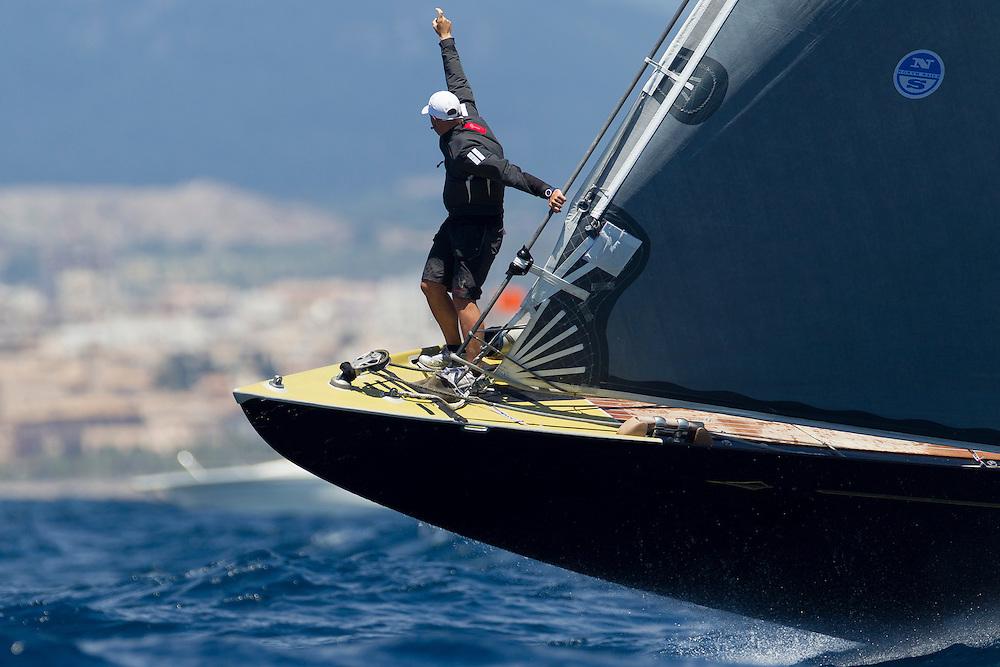 SPAIN, Palma. 19th June 2013. Superyacht Cup. J Class. Race One. Rainbow.