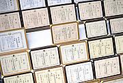 Photo shows some of the award certificates hanging on the walls at Suehiro Sake Brewery in Aizu-wakamatsu City, Fukushima, Japan on 15 March 2013.  Photographer: Robert Gilhooly