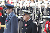 Prince William; Prince Philip Remembrance Sunday - Cenotaph Service, Whitehall, London, UK. 13 November 2011. Contact rich@pictured.com +44 07941 079620 (Picture by Richard Goldschmidt)