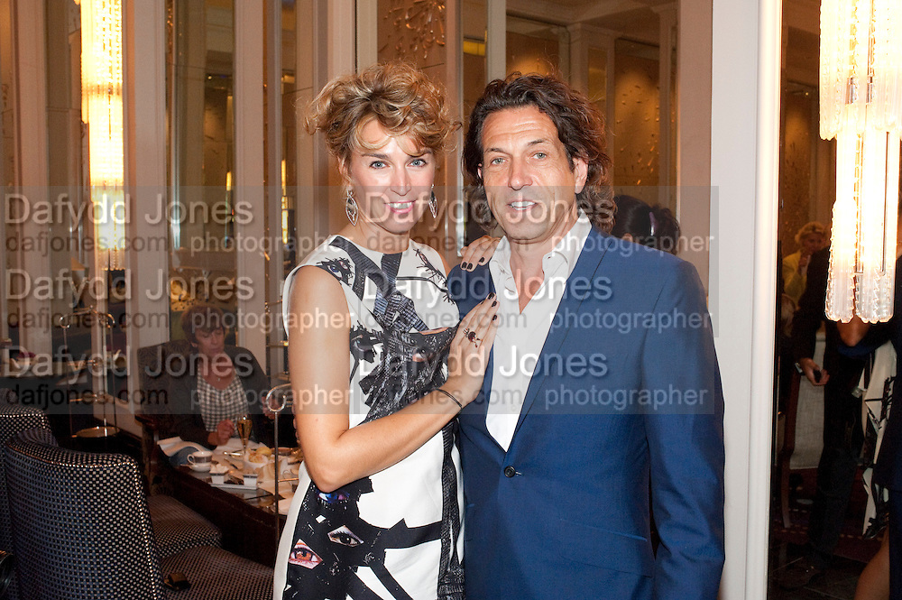 ASSIA WEBSTER; STEPHEN WEBSTER, Stephen Webster hosted  the Stephen Webster Bijoux Tea.  Launching the  tea  inspired by StephenÕs most recent fine jewellery collection ÔMurder She WroteÕ whichwas also on display. Langham Hotel. Portland Place. London. 14 September 2011. <br /> <br />  , -DO NOT ARCHIVE-© Copyright Photograph by Dafydd Jones. 248 Clapham Rd. London SW9 0PZ. Tel 0207 820 0771. www.dafjones.com.<br /> ASSIA WEBSTER; STEPHEN WEBSTER, Stephen Webster hosted  the Stephen Webster Bijoux Tea.  Launching the  tea  inspired by Stephen's most recent fine jewellery collection 'Murder She Wrote' whichwas also on display. Langham Hotel. Portland Place. London. 14 September 2011. <br /> <br />  , -DO NOT ARCHIVE-© Copyright Photograph by Dafydd Jones. 248 Clapham Rd. London SW9 0PZ. Tel 0207 820 0771. www.dafjones.com.