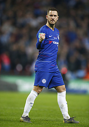 February 24, 2019 - London, England, United Kingdom - Chelsea's Eden Hazard celebrate his penalty.during during Carabao Cup Final between Chelsea and Manchester City at Wembley stadium , London, England on 24 Feb 2019. (Credit Image: © Action Foto Sport/NurPhoto via ZUMA Press)