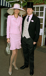 MR & MRS GUY SANGSTER, he is the son of Robert Sangster the racehorse owner, at Royal Ascot on 17th June 1997.LZI 59