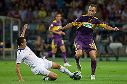 Alain Rochat of Zurich vs Dalibor Volas of Maribor at Third Round of Champions League qualifications football match between NK Maribor and FC Zurich,  on August 05, 2009, in Ljudski vrt , Maribor, Slovenia. Zurich won 3:0 and qualified to next Round. (Photo by Vid Ponikvar / Sportida)