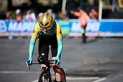 Ulyana Sukhorebrik (KAZ) at UCI Road World Championships 2019 Junior Women's TT a 13.7 km individual time trial in Harrogate, United Kingdom on September 23, 2019. Photo by Sean Robinson/velofocus.com