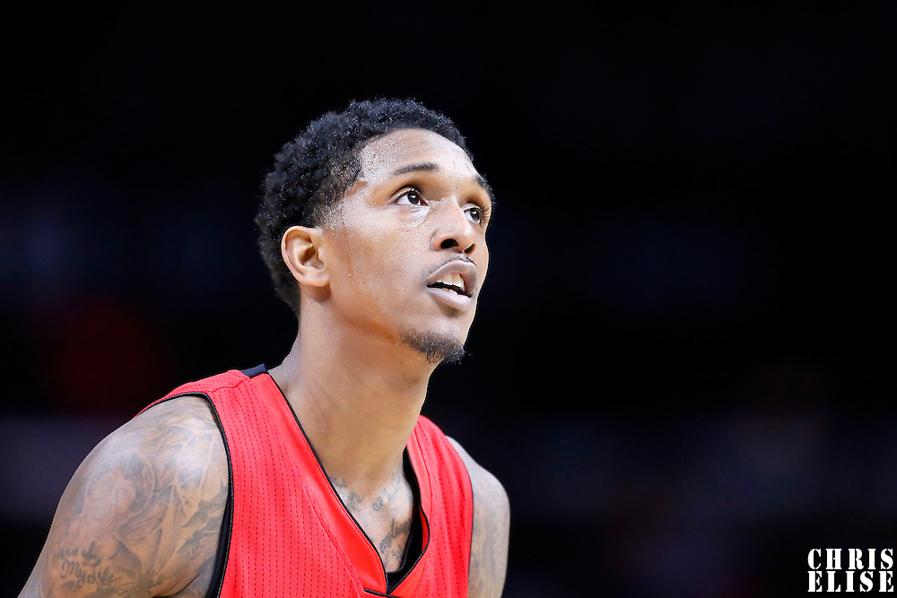 27 December 2014: Toronto Raptors guard Louis Williams (23) is seen at the free throw line during the Toronto Raptors 110-98 victory over the Los Angeles Clippers, at the Staples Center, Los Angeles, California, USA.