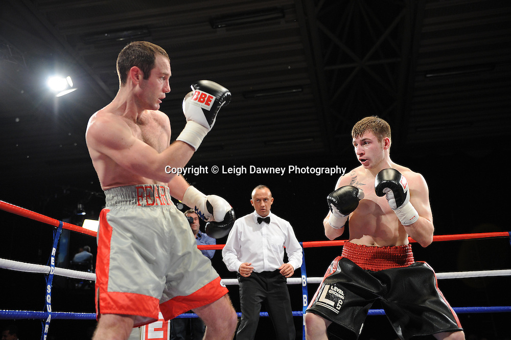 Maxi Hughes defeats Graham Fearn - 22nd January 2011 at Doncaster Dome, Doncaster - Frank Maloney Promotions. Credit © Leigh Dawney.