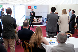 Pictured is Steve Cram speaking at the Clydesdale Bank/Yorkshire Bank stand at the Lincolnshire Show.<br /> <br /> Steve Cram spent the day at the Lincolnshire Show with Clydesdale Bank and Yorkshire Bank.  He also visited the Sports Zone, at the show, which was organised by Lincolnshire Sport.<br /> <br /> Picture: Chris Vaughan/Chris Vaughan Photography<br /> Date: Wednesday, June 24, 2015