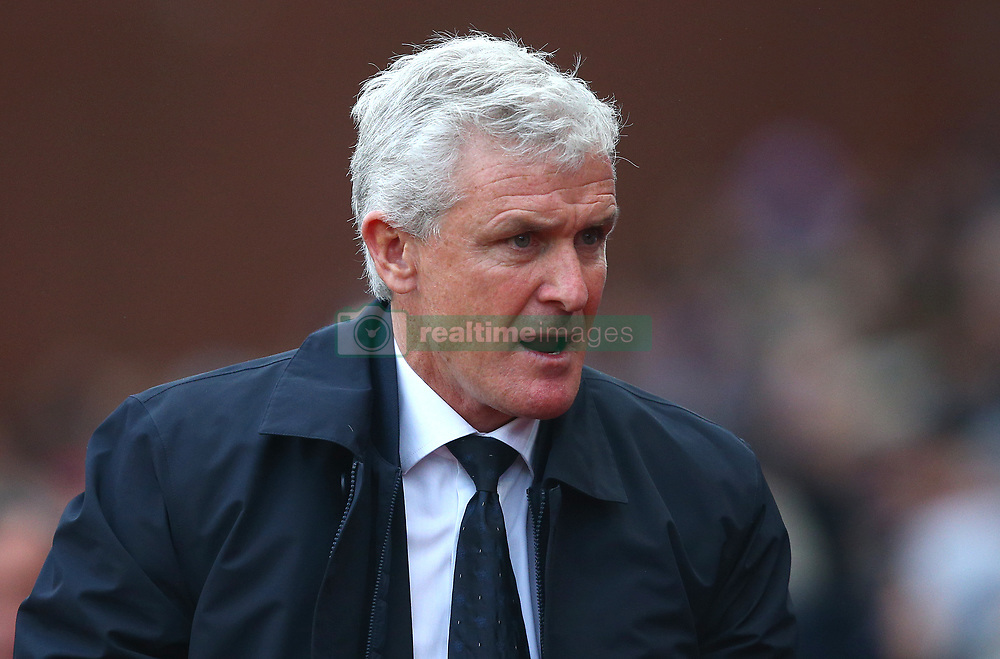 Stoke City manager Mark Hughes before the Premier League match at the bet365 Stadium, Stoke-on-Trent.