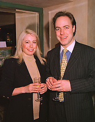 MR & MRS ALEXANDER LEON, he is the heir to Sir John Leon Bt. at a party in London on 27th January 1999.MNM 6