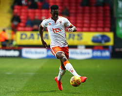 December 23, 2017 - London, United Kingdom - Blackpool's Armand Gnanduillet  in action.during Sky Bet  League One match between Charlton Athletic  against Blackpool at The Valley Stadium London on 23 Dec  2017  (Credit Image: © Kieran Galvin/NurPhoto via ZUMA Press)