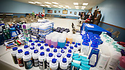 A wide variety of toiletries and personal items, purchased through an Operation Comfort Warriors grant, awaited pickup at The American Legion Post 201 in Tomah, Wisc, on Tuesday, June 23.  Photo by Ben Brewer.