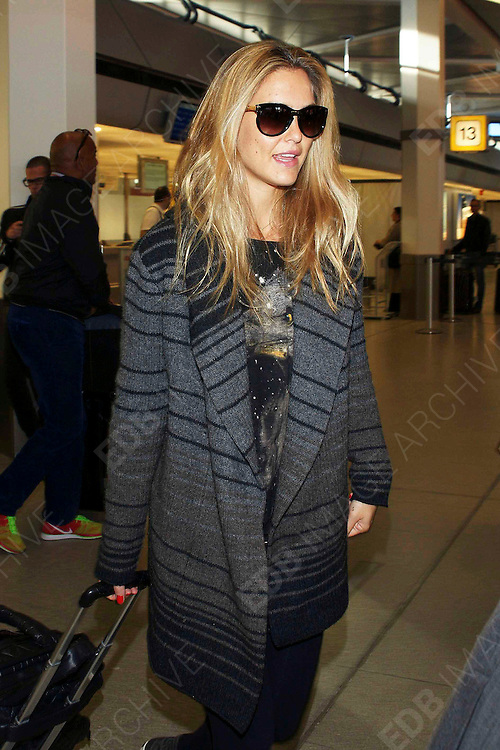 26.OCTOBER.2012. BERLIN<br /> <br /> BAR REFAELI ARRIVING AT TEGEL AIRPORT IN BERLIN, GERMANY.