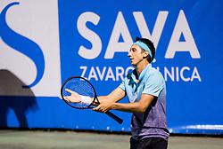 Sergiy Stakhovsky (UKR) playing doubles Semifinal during Day 7 at ATP Challenger Zavarovalnica Sava Slovenia Open 2018, on August 9, 2018 in Sports centre, Portoroz/Portorose, Slovenia. Photo by Vid Ponikvar / Sportida