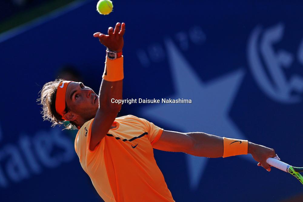 Rafael Nadal (EPS), APRIL 24, 2016 - Tennis : The ATP 500 World Tour Barcelona Open Banco Sabadell tennis tournament during mens singls final match between Rafael Nadal and Kei Nishikori at the Real Club de Tenis in Barcelona, Spain, (Photo by D.Nakashima/AFLO)