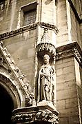 Exterior detail of Sainte-Chapelle Chapel, Paris, France