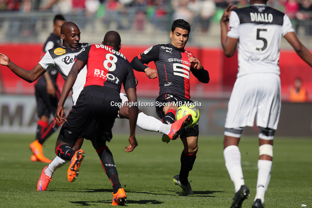 Benjamin ANDRE / Younousse SANKHARE - 12.04.2015 - Rennes / Guingamp - 32eme journee de Ligue 1 <br />