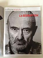 Phil Collins pour Paris-Match, 2016.
