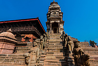 Siddhi Laxmi Shikara Temple, Durbar Square, Bhaktapur, Kathmandu Valley, Nepal.