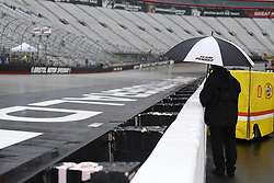 April 15, 2018 - Bristol, Tennessee, United States of America - April 15, 2018 - Bristol, Tennessee, USA: Rain comes down before the start of the Food City 500 at Bristol Motor Speedway in Bristol, Tennessee. (Credit Image: © Chris Owens Asp Inc/ASP via ZUMA Wire)