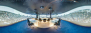 360 Panoramic View of Parlamentarium, the visitors centre of the European Parliament in Brussels