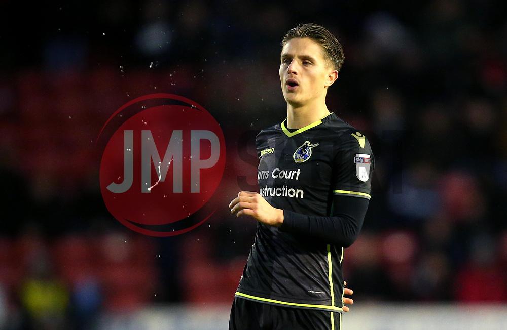 Tom Nichols of Bristol Rovers spits - Mandatory by-line: Robbie Stephenson/JMP - 26/12/2017 - FOOTBALL - Banks's Stadium - Walsall, England - Walsall v Bristol Rovers - Sky Bet League One