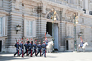 Changing of the Guard ceremony, Royal Palace, Madrid, Spain