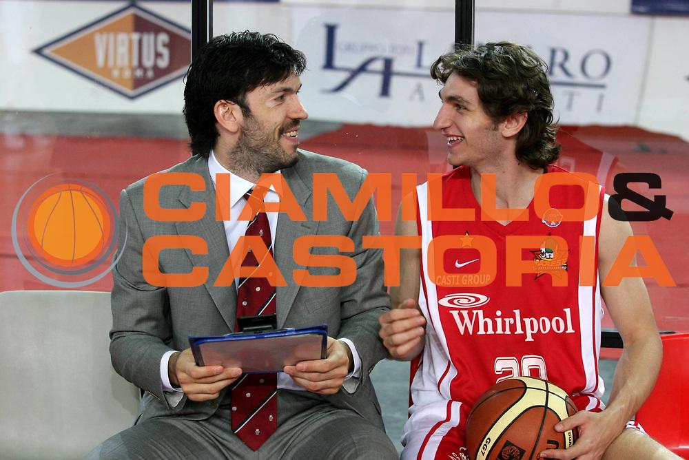 DESCRIZIONE : Roma Lega A1 2006-07 Lottomatica Virtus Roma Whirlpool Varese <br /> GIOCATORE : Meneghin Gergati<br /> SQUADRA : Whirlpool Varese <br /> EVENTO : Campionato Lega A1 2006-2007 <br /> GARA : Lottomatica Virtus Roma Whirlpool Varese <br /> DATA : 25/04/2007 <br /> CATEGORIA : Ritratto <br /> SPORT : Pallacanestro <br /> AUTORE : Agenzia Ciamillo-Castoria/G.Ciamillo