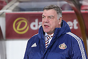 Sunderland Manager Sam Allardyce  during the Barclays Premier League match between Sunderland and Liverpool at the Stadium Of Light, Sunderland, England on 30 December 2015. Photo by Simon Davies.