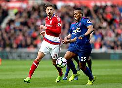 Gaston Ramirez of Middlesbrough passes the ball - Mandatory by-line: Robbie Stephenson/JMP - 19/03/2017 - FOOTBALL - Riverside Stadium - Middlesbrough, England - Middlesbrough v Manchester United - Premier League