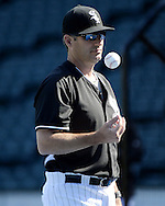 CHICAGO - JUNE 29:  Manager Robin Ventura #23 of the Chicago White Sox looks on during batting practice prior to the game against the Minnesota Twins on June 29, 2016 at U.S. Cellular Field in Chicago, Illinois.  (Photo by Ron Vesely) Subject:    Robin Ventura