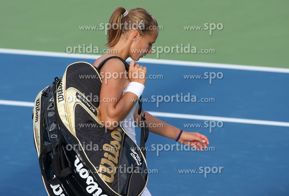 Polona Hercog of Slovenia after 3rd Round of Banka Koper Slovenia Open 2008, on July 23, 2008, Portoroz - Portorose, Slovenia. (Photo by Vid Ponikvar / Sportal Images)...