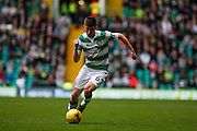 Celtic FC Defender Kieran Tierney on the attack during the Ladbrokes Scottish Premiership match between Celtic and Dundee United at Celtic Park, Glasgow, Scotland on 25 October 2015. Photo by Craig McAllister.