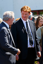 © Licensed to London News Pictures. 12/06/2015. Fort William, UK. Danny Alexander attending the funeral of ex-Liberal Democrat leader Charles Kennedy at St John's Church in Caol, near his Fort William home in Scotland on Friday, June 12, 2015. Mr Kennedy died suddenly on June 1, 2015 at the age of 55 after suffering a major haemorrhage as a result of a long battle with alcoholism. Photo credit: Tolga Akmen/LNP