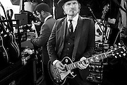 Vintage Trouble hangs out backstage at The Wakarusa Music Festival in Ozark, Arkansas on 05 June 2014.